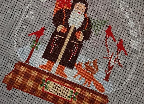Rustic Christmas Series Jasin Santa Snow Globe