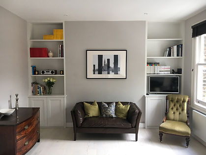 Alcove units paddington in fitted cupboards, with media units.