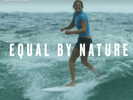 EQUAL. The World Surf League is first to bridge the gender equality gap.