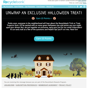 Recyclebank - Halloween Campaign