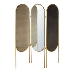 Gold Metal and Velvet Room Divider with Mirrors £297.00