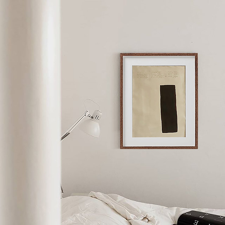 Brown Cream Art, Rectangle Shape Art, Af