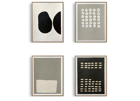 Abstract Gallery Wall: Horizon