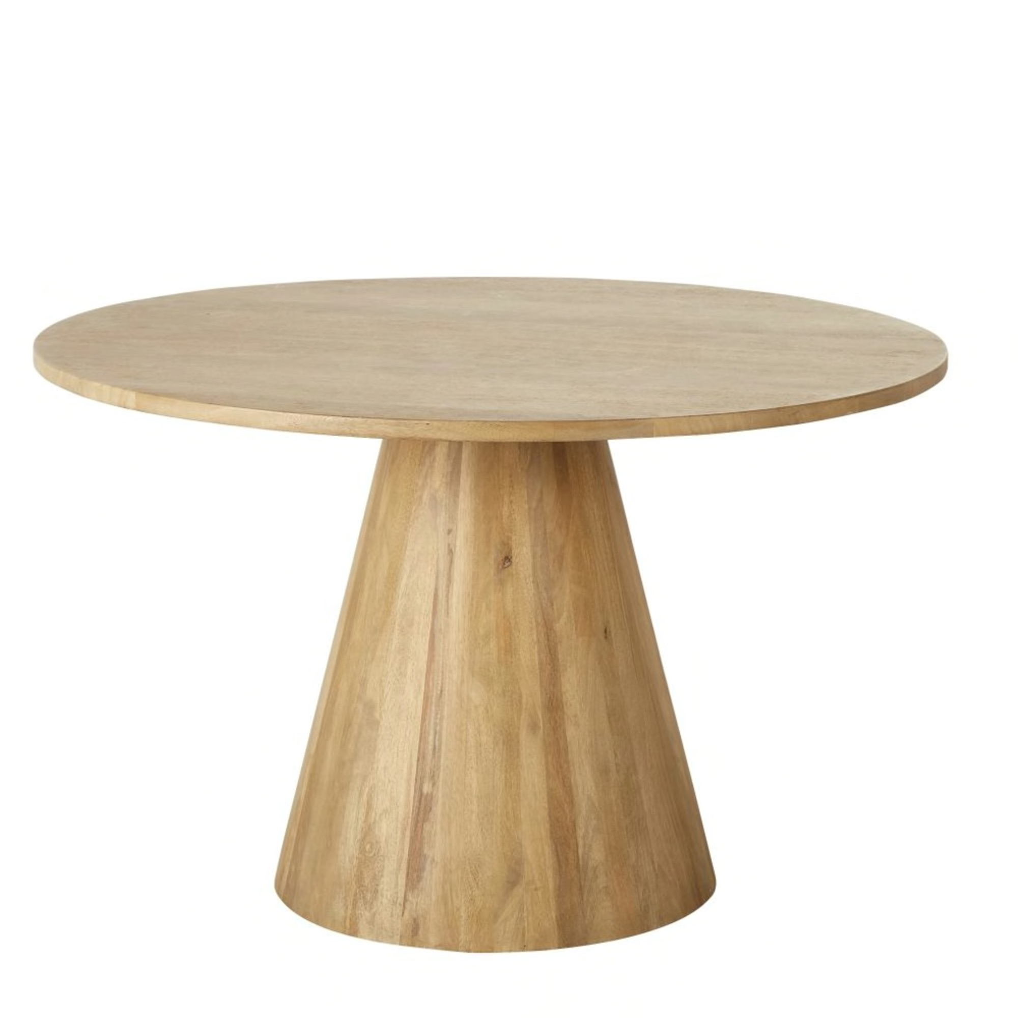 Round Whitewashed Solid Mango Wood 5/6-Seater Dining Table D120 £648.50