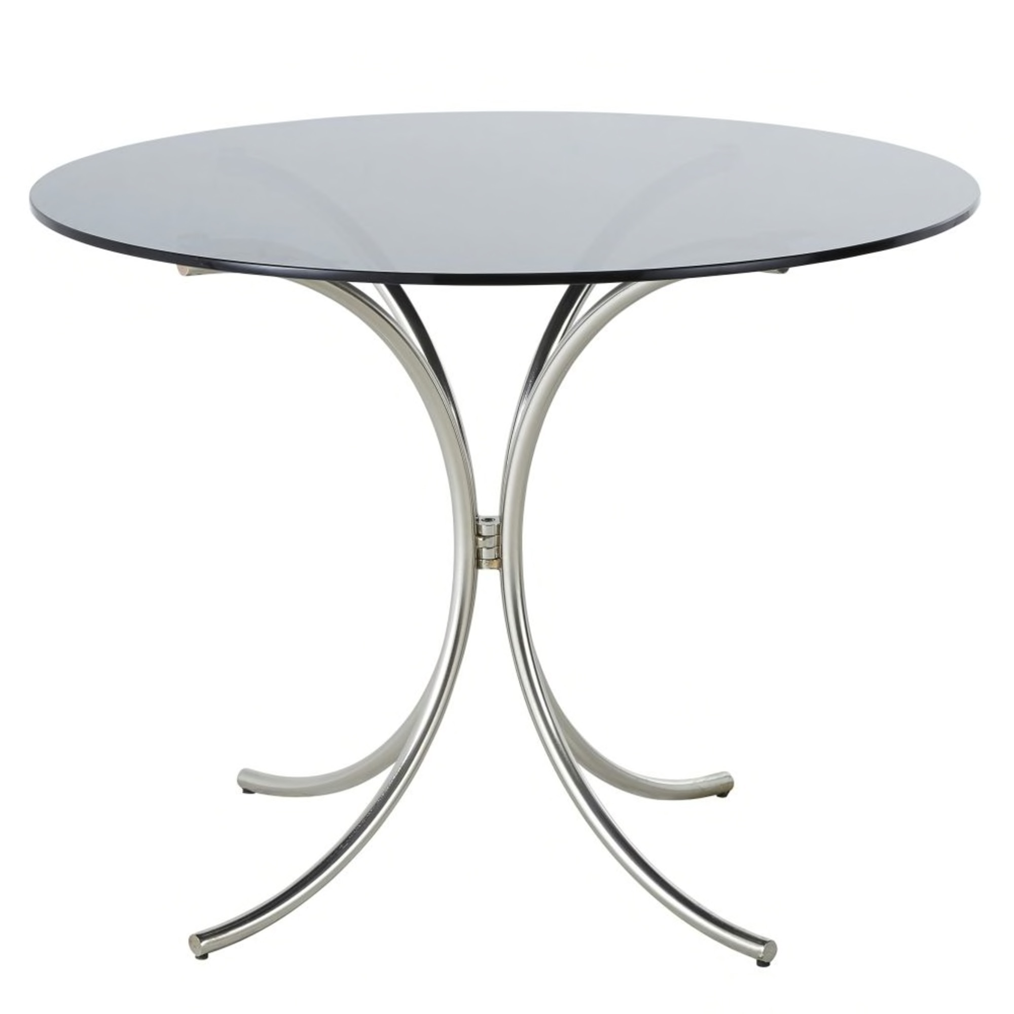 Round Smoked Tempered Glass 4-Seater Dining Table D100 £378.00
