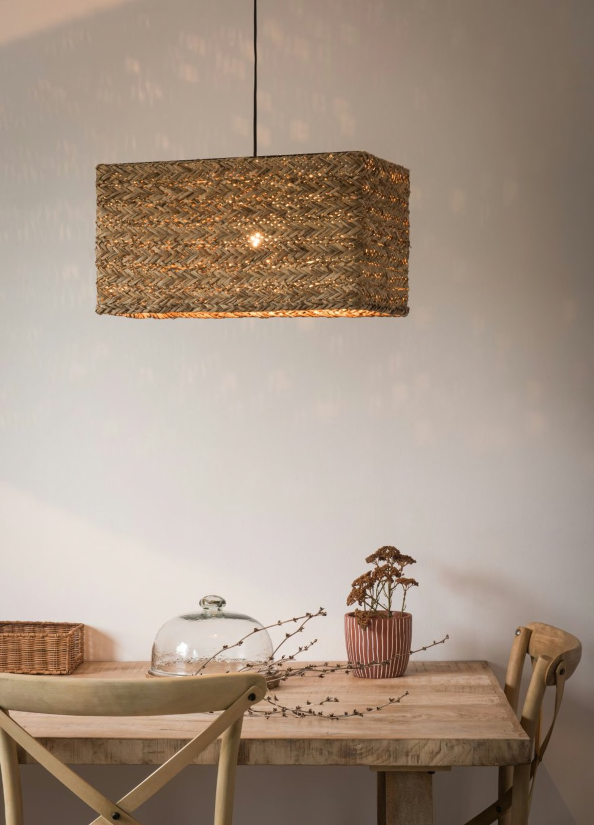 Rectangular Woven Pendant Light £66.00