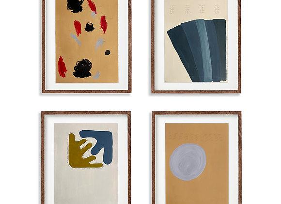 Abstract Gallery Wall: Air