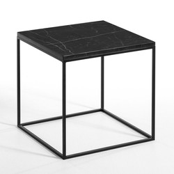 Mahaut Side Table in Marble & Metal £130.00