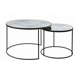 Round Mirror-Effect Tempered Glass Nesting Tables £324.00