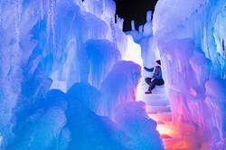Ice Stairs at the LaBelle Lake Ice Palace