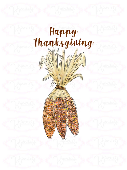 Happy Thanksgivign Corn Stalks File