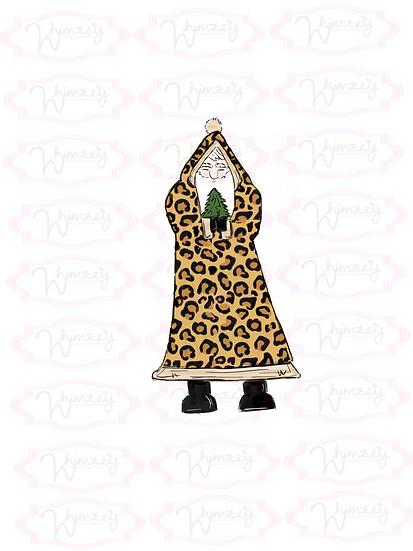 Digital Old Cheetah Santa  File
