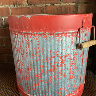 Red Distressed Buckets