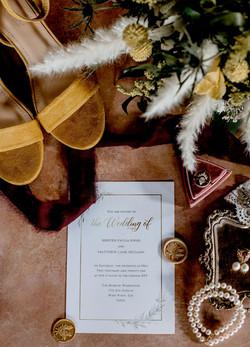 Wedding invitation and pics