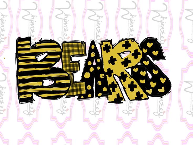 Digital Bears - black and gold Download