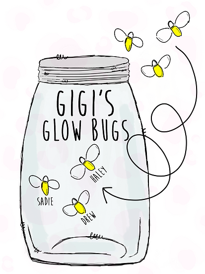 Jar and Glow Bugs