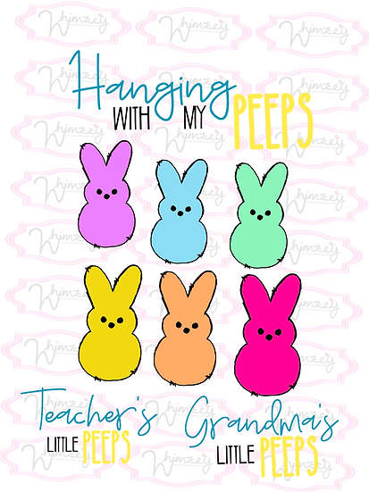 copy of Digital Hanging with peeps group