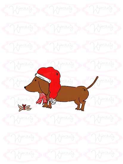 Digital Christmas Weenie pup Download