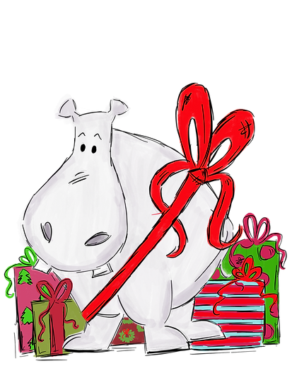 Digital Hippo with Presents File