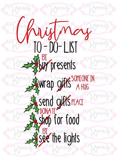 Digital Christmas List Download