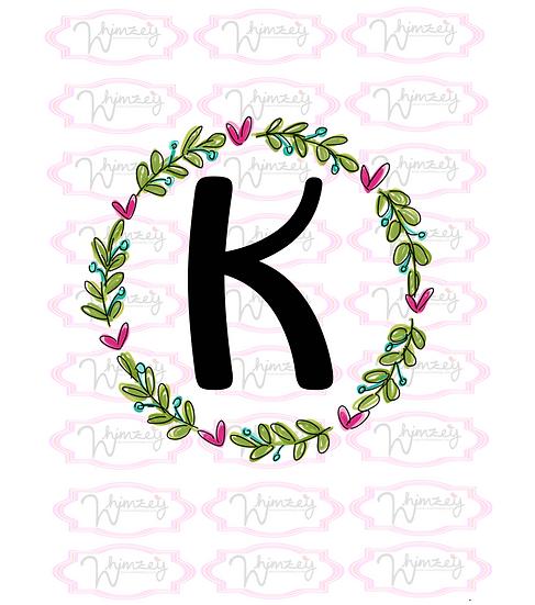 Sweet Monogram Wreath