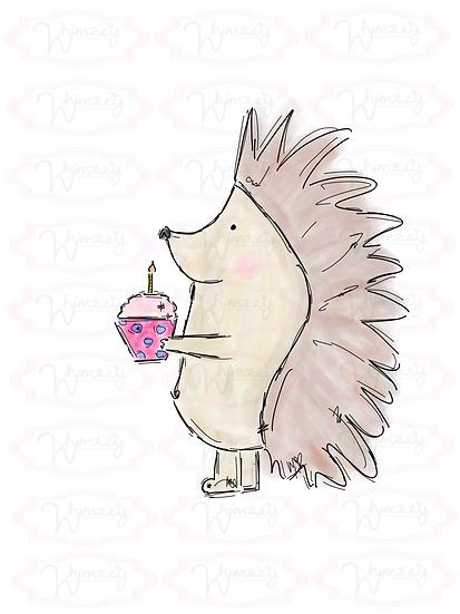 Digital Birthday Hedgehog Download