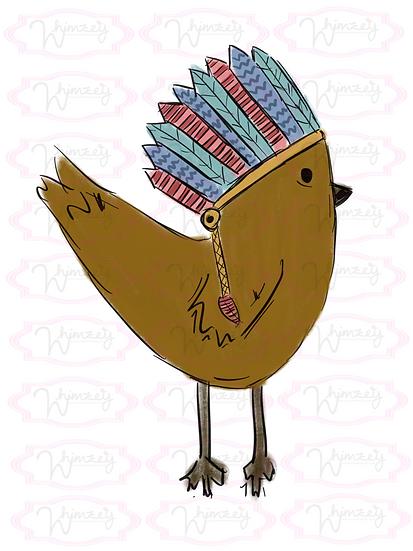 Digital Thanksgiving Chick