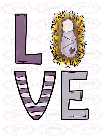 Digital Love Jesus with Purple Download