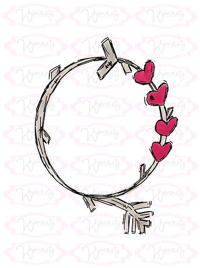 Digital Heart Branch Wreath Download