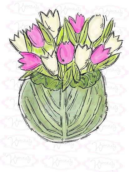 Digital Lettuce and Tulips Download