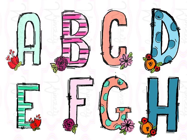 Floral Alphabet  Download