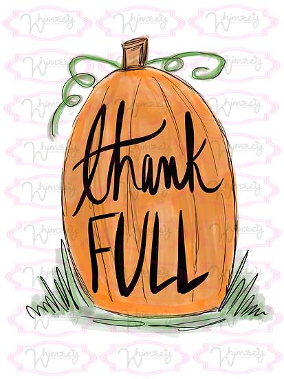Digital Pumpkin Thankful File