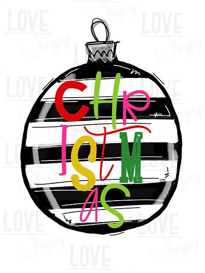 Christmas Striped Ornament
