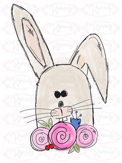 Tan Bunny w/Flowers Download