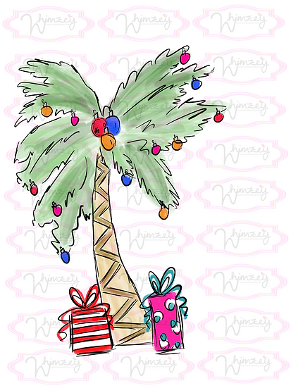 Digital Christmas Palm Tree File