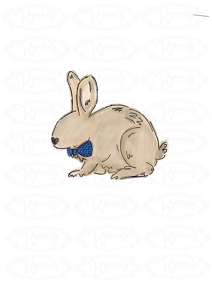 Digital Bow Tie Rabbit Download