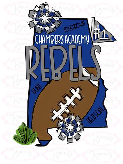 Chambers Academy- State Football Tee