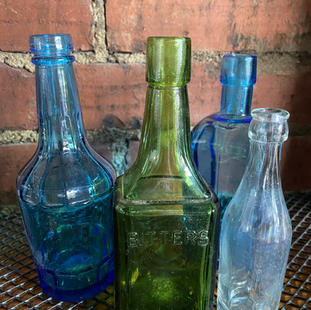 Small Colored Bottles