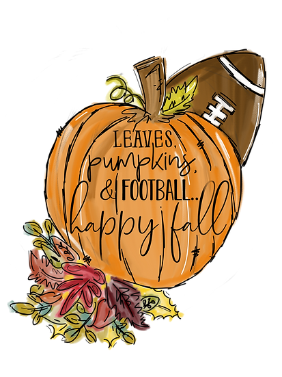 Leaves Pumpkins & football