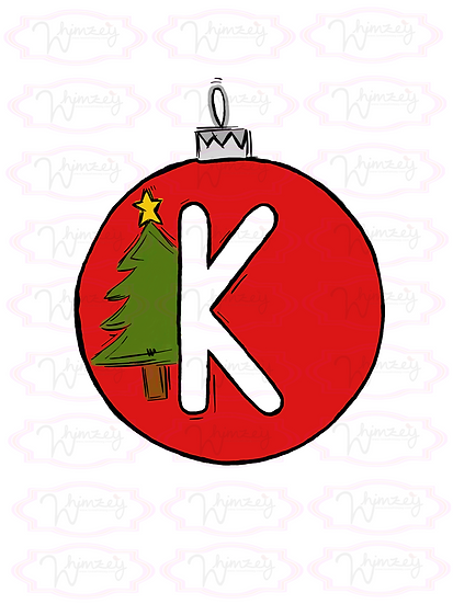 Digital Letter K Ornament File