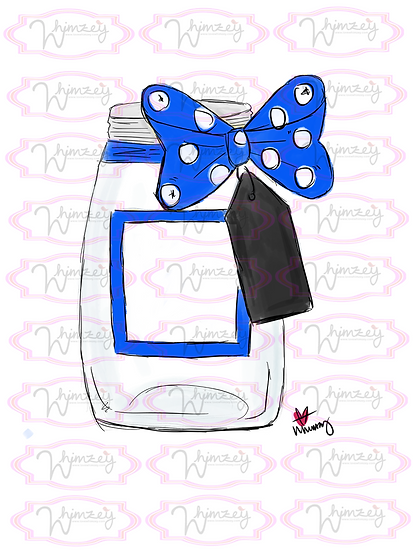 Digital Blue Mason Jar File