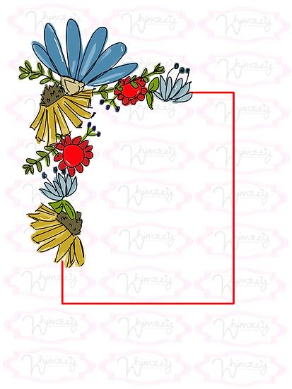 Patriotic Floral Frame
