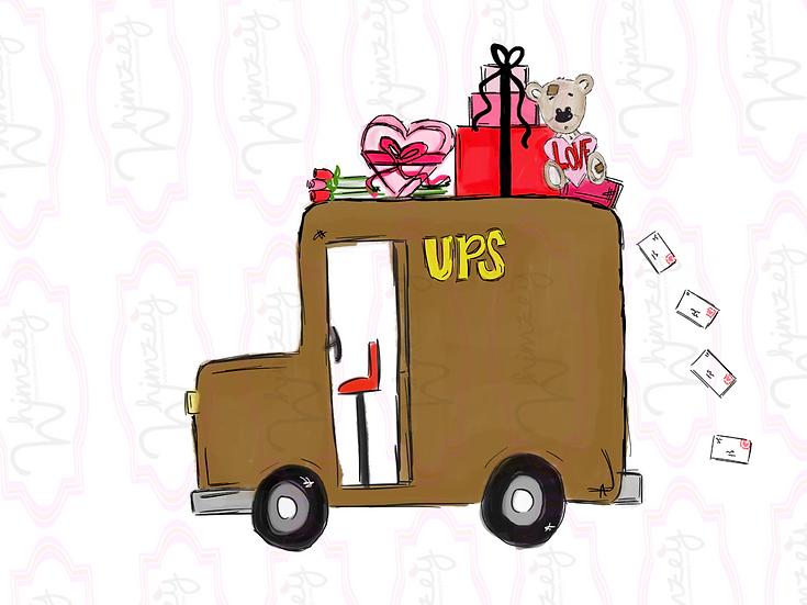 Digital UPS love truck - Rec Wreath Download