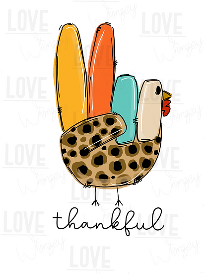 Cursive Peace Turkey
