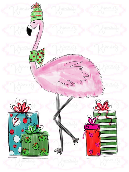 Digital Flamingo with Gifts File