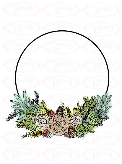 Digital Natural Wreath Download