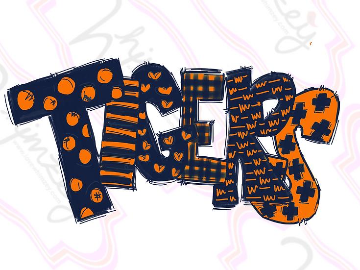 Digital Navy/Orange Tigers Download