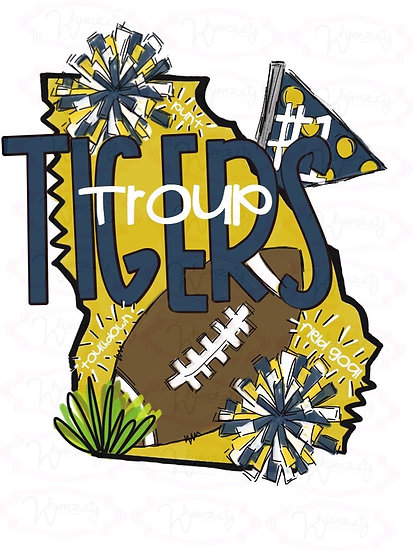 Troup Tigers- State Football Tee
