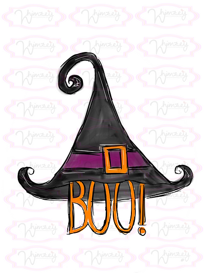 Digital Boo Witch Hat File