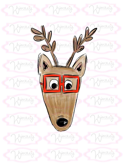 Digital Reindeer with Glasses File